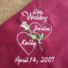 Personalized Wedding Bridal Shower Fleece Blanket
