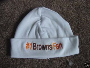 Browns Football Baby Infant Newborn Hospital Hat Cap