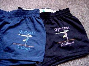 Personalized Gymnastic Gymnast Team Shorts A/S