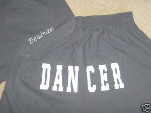Personalized Girls Dance Dancer Butt Print Shorts Y/L