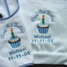 Personalized Happy First Birthday Bib/Shirt Boy/Girl
