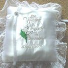 Personalized Bridal Calla Lily Satin Ring Bearer Pillow
