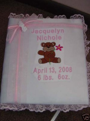 Personalized Baby Infant Newborn Photo Album Scrapbook