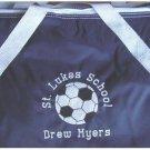 Personalized Soccer Team Nylon Duffle Sports Bag