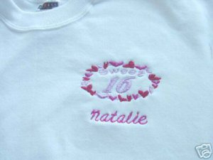Personalized Sweet 16 Sixteen Teen Shirt  Party