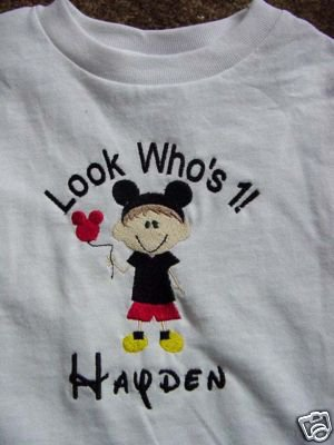 PERSONALIZED Mickey Mouse Birthday Shirt Look whos 1