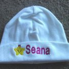 Personalized Infant Newborn Hat Cap Baby Hospital Girl