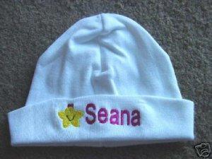 Personalized Infant Newborn Hat Cap Baby Hospital Girl