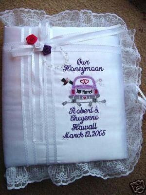 Personalized Wedding  Honeymoon Photo Album Scrapbook