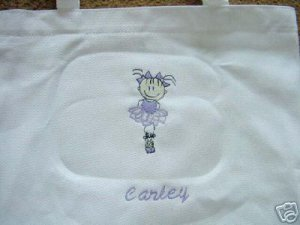 Personalized Girls  Ballerina Dance  Ballet Tote Bag