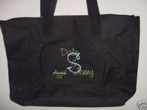 Personalized Bride Groom Vacation Cruise Beach Tote Bag