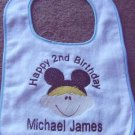 Personalized Happy Birthday Boy/Girl Mickey Minnie bib