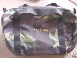 Personalized Camo Camouflage Camping Gym Duffle Bag
