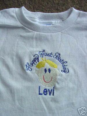 Personalized Happy First Birthday Shirt Boy Girl shirt