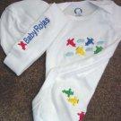 Personalized Boys Baby Infant Newborn Onesie Hat Set