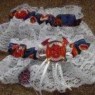 Firefighter Fireman Wedding Bridal Garter Set White Or Ivory