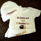 Washington Redskins Baby Infant Newborn Onesie Hat Set