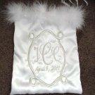 Personalized WEDDING MONEY CARD BAG BRIDAL PURSE w/boa