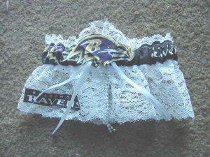 Baltimore Ravens NFL Football Sports Bridal Wedding Garter Prom Keepsake