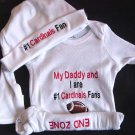 Arizona Cardinals Football Baby Infant Newborn Onesie Creeper NFL Hat Set