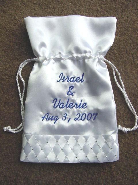 "Personalized 10"" WEDDING MONEY CARD BAG BRIDAL PURSE Rhinestones"