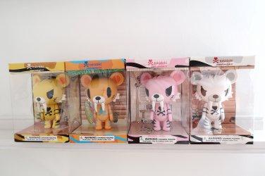 """Tokidoki Tiger Toys """"open box"""" 4 pieces"""