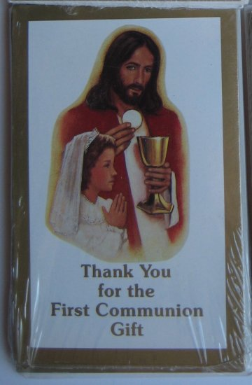 First Communion Thank-You Cards 8pk, Girl