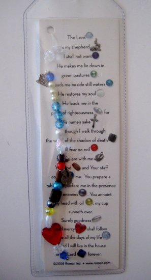 23rd Psalm Bookmark With Charm Roman Inc