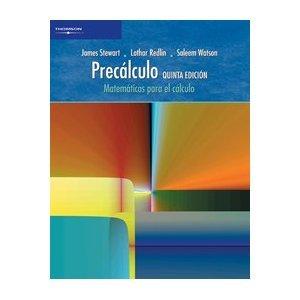 Precalculo: Matematicas para el Calculo 5e (Spanish Edition) / Stewart / Redlin / isbn 9706866388