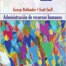 Administracion de Recursos Humanos 14e - Bohlander ( Spanish Edition) isbn 9706867120