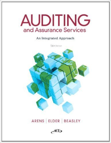 Auditing and Assurance Services with ACL CD 14th Edition - Alvin A. Arens isbn 0132575957