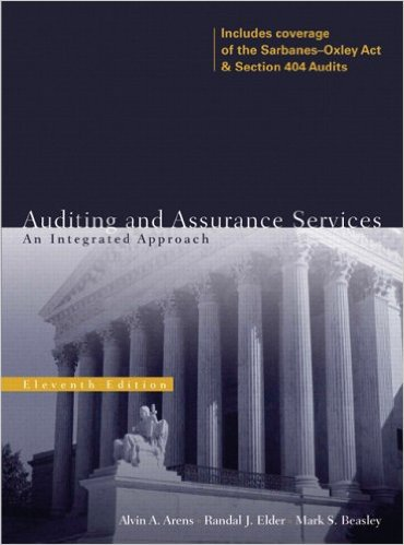 Auditing and Assurance Services 11th Edition - Alvin A. Arens isbn 0131867121