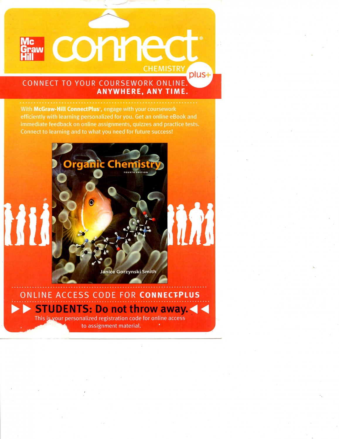 Connect Access Card for Organic Chemistry 4th Edition - J.G. Smith - isbn 9780077479794 McGraw Hill