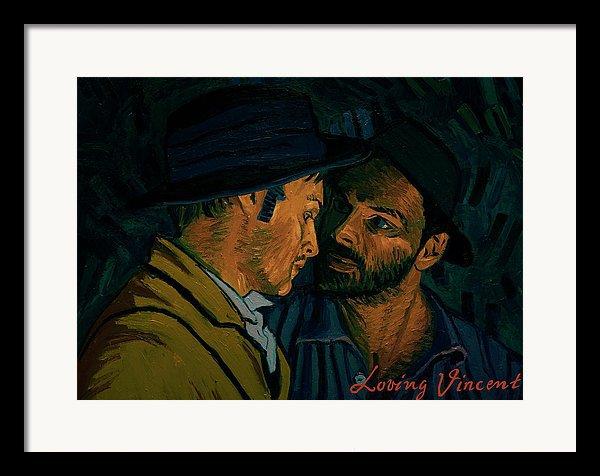 Loving Vicent Van Gogh - I Never Said I Was by Olga Krolak ( Framed Print )