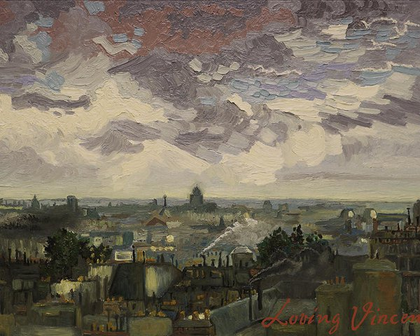 Loving Vicent Van Gogh -  View Over Rooftops Of Paris Poster by Aleksandra Siudek (Poster)