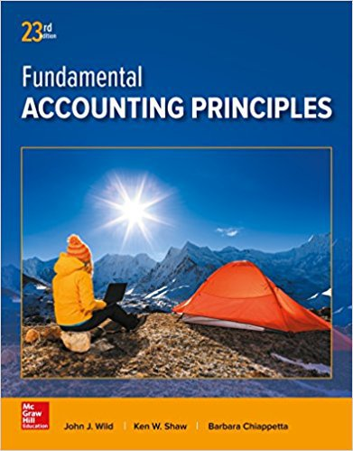Fundamental Accounting Principles 23rd - John J Wild - isbn 9781259536359