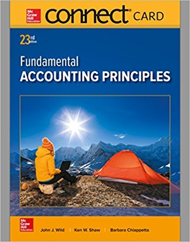 Connect Access Card for Fundamental Accounting Principles 23rd by John J Wild - isbn 9781259693878