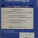 MyAccountingLab Access Code W eText for Cost Accounting 15th by Horngren -  isbn 9780133451474