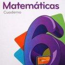 Para Crecer Matematicas 6 (Cuaderno) isbn 9781618752857 Ediciones Santillana