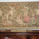 French antique GOBELIN Tapestry Rokoko scene pre 1900 FREE SHIP