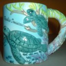 Sea Turtle ceramic coffee mug Domenican Republic FREE SHIP