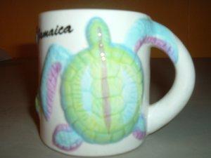 Sea Turtle ceramic coffee mug Jamaica FREE SHIP