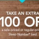 $100 SELECT COMFORT SLEEP NUMBER BED COUPON REWARD Expires 10-13-2019