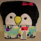 New Child Hooded Penguin Fleece Blanket Blankie Cute and Comfortable