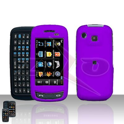 Purple Hard Case Snap on Cover plus free Car Charger for Samsung Impression A877
