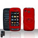 Red Hard Case Snap on Cover plus free Car Charger for Samsung Impression A877