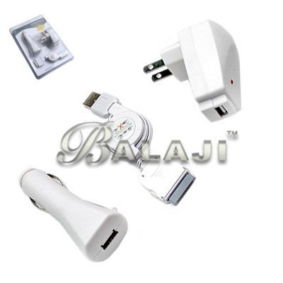 i3in1 Charger kit for iPhone 3G iPod Touch 2 Nano 4