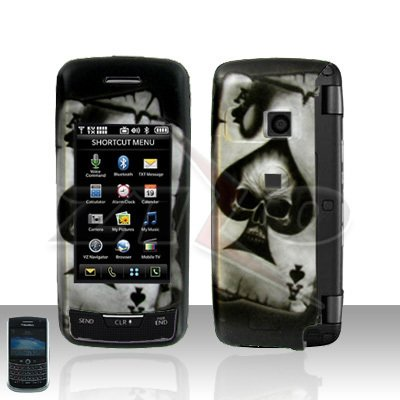 Skull Cover Case Snap on Protector plus Free car charger for LG Voyager LG VX10000