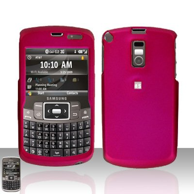 Pink Cover Case  Hard Case Snap on Protector with Car Charger for Samsung Jack i637