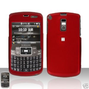 Red Cover Case  Hard Case Snap on Protector with Car Charger for Samsung Jack i637